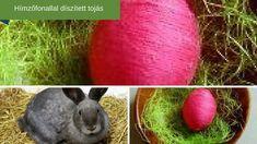 Hímzőfonallal díszített húsvéti tojás. Diy, Animals, Animales, Bricolage, Animaux, Do It Yourself, Animal, Animais, Homemade