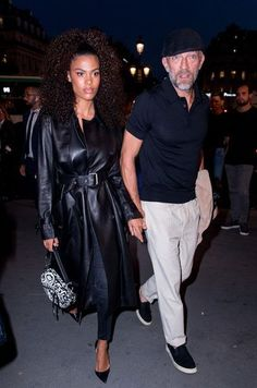Vincent Cassel, Street Style Looks, Street Style Women, Tina Kunakey, Paris Match, Stylish Couple, Advanced Style, Inspiration Mode, Fashion Couple