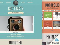 #Freebie Here is Retro Portfolio - Version 4 free PSD design project file. A retro one-page template designed and released by Pasquale Vitiello.