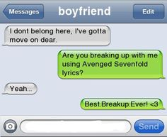 Funny Break Up Texts | Best Break Up Ever | Lol Funny Images