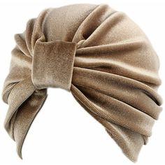 Velvet Beige Turban Hat, Winter Hat, Head Wrap, Plush Cap Beret,... ($22) ❤ liked on Polyvore featuring accessories, hats, turban hat, turban cap, velvet turban, velvet beret and beret cap
