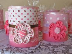 Latas Recicladas by me-Chelli - Mimos de Tecido, via Flickr                                                                                                                                                                                 Mais