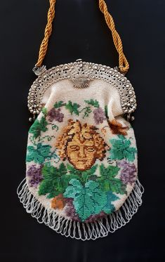 Made by Tineke Nieuwenhuijse-Taal. Art Nouveau, Art Deco, Bacchus, Drawstring Backpack, Purses, Beads, Handbags, Beading, Bead