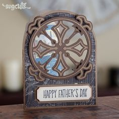 Father's Day Card Idea from SVGCuts - Art Nouveau Card from the Boho Butterflies SVG Kit.
