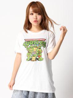 WEGO/オリジナルTシャツ(タートルズ)(ホワイト)