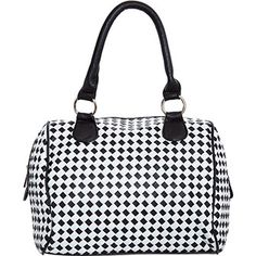 Monochrome Lattice Effect Handbag