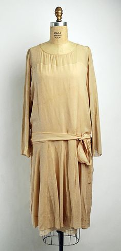 "Dress  House of Chanel  (French, founded 1913)  Designer: Gabrielle ""Coco"" Chanel (French, Saumur 1883–1971 Paris) Date: 1920s Culture: French Medium: silk"