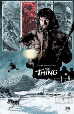 """The Thing"" Horror Movie Poster Fan Art Best Movie Posters, Classic Movie Posters, Classic Horror Movies, Movie Poster Art, Sci Fi Movies, Scary Movies, Great Movies, Horror Movie Posters, Cinema Posters"