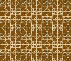 Milk Chocolate Brown Fibonacci Spiral fabric by pantsmonkey on Spoonflower - custom fabric