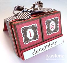 Lisa's Creative Corner: November Creative Club - Perpetual Calendar. She is so awesome.