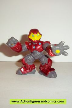 Hasbro MARVEL SUPER HERO SQUAD pvc action figures ULTIMATE IRON MAN condition: excellent - displayed only/collectable condition figure size: 2 inch ----------------------------------------------------