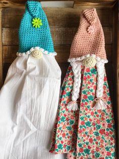 Crochet Hook Sizes, Crochet Stitches, Crochet Patterns, Crochet Girls, Free Crochet, Crochet Bags, Crochet Towel Topper, Girl Gnome, Yarn Braids