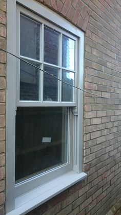 6 over 1 Sash windows finished in RAL 7044 supplied by Timber Windows Direct