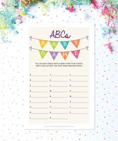 Only $5! Print as many games as you need for your shower. #babyshower #babyshowergames