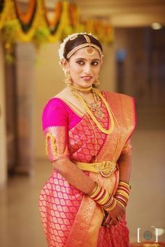 indian bridal hair and saree on pinterest