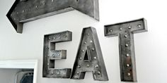 How to: Make a Faux Vintage Industrial Metal Sign