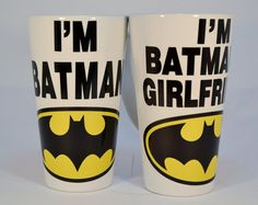 I'm batman and i'm batman's girlfriend latte mugs,funny mugs,funny coffee mugs,custom mugs,boyfriend gift,boyfriend gifts,girlfriend gift