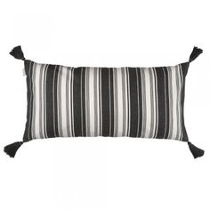 Linum Charcoal Air Stripe Cushion - Linum from eggcup & blanket UK