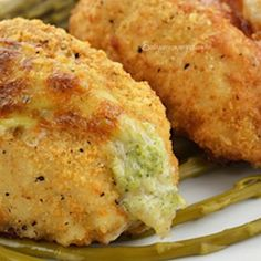 Broccoli and Cheese Stuffed Chicken Breasts, substitutions can be made for lc gf