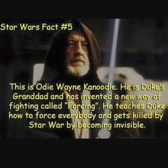 This brings me so much joy. #starwarsfacts #odiewaynekanoodle