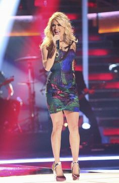 Carrie on Dancing with the Stars 2012.