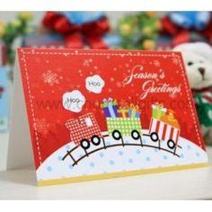 Christmas Choochoo Train Greeting Card