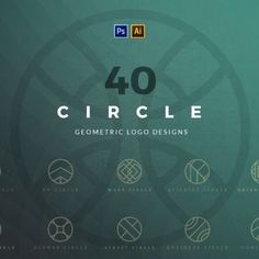 40 Circle Geometric Logo Designs.  #logos #logo #logodesign #logotemplates
