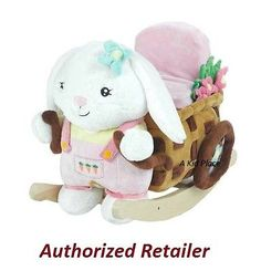 Rocking Horses 19024: Rockabye Beatrice Bunny Rabbit Rocker Baby Rocking Horse Kids Ride0n Toy - New -> BUY IT NOW ONLY: $94.95 on eBay!