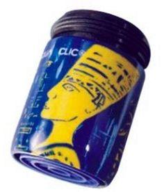 Ägyptisches Motiv in blau und gelb: Durchflussbegrenzer mit Konstanthaltung (5 Liter pro Minute) spart bis zu 50% Wasser und Energie.