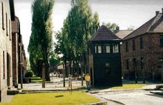 Guard tower at Auschwitz Concentration Camp - Poland