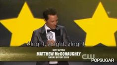 Pin for Later: 10 Quintessential Moments From Last Year's Critics' Choice Awards Then Matthew McConaughey Did a Matthew McConaughey Impression, Because Duh