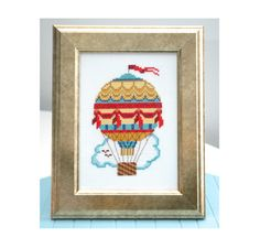 Instant Download, Cross Stitch Pattern, Vintage Air Balloon
