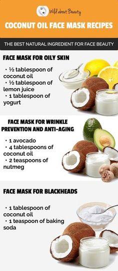 8 DIY Coconut Oil Face Masks – The Best Ingredient for Perfe.- 8 DIY Coconut Oil Face Masks – The Best Ingredient for Perfect Skin 8 Coconut Oil Face Mask Recipes – The Best Natural Ingredient for Face Beauty - Mask For Oily Skin, Face Mask For Blackheads, Nutmeg Face Mask, Yogurt Face Mask, Diy Masque, Coconut Oil For Face, Coconut Oil Skin, Exfoliant, Perfect Skin