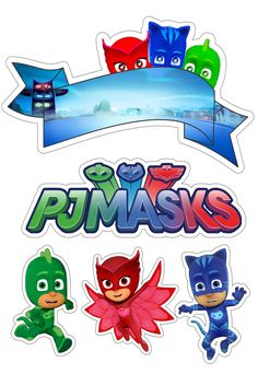 Topo de bolo decorativo pj masks Pj Masks Cake Topper, Pj Masks Cupcake Toppers, Pj Mask Cupcakes, Princess Cupcake Toppers, Birthday Cake Toppers, Pj Masks Stickers, Pj Max, 4th Birthday Parties, Baby Birthday