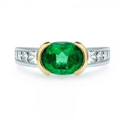 Oval Emerald and Diamond Ring // J.M. Edwards Jewelry // Cary, NC