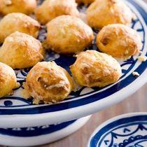Gouda gougères are a fun party snack with a distinctly Dutch flavor.: Boerenkaas Puffs (Kaassoesjes van Boerenkaas)