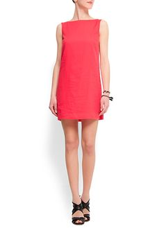 Straight-cut cotton dress $49.99