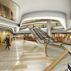 Retail shopping mall interior design