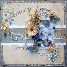 January **Scraps of Elegance** - Scrapbook.com Graphic 45 - Place in Time Collection