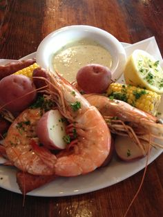 Join us tonight and try our new Lowcountry Shrimp Boil with giant head on gulf prawns, local corn, red potatoes, andouille and spicy aioli.