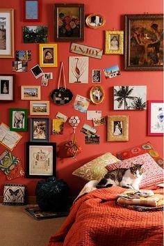 ⋴⍕ Boho Decor Bliss ⍕⋼ bright gypsy color & hippie bohemian mixed pattern home decorating ideas - Elle Decor bright room