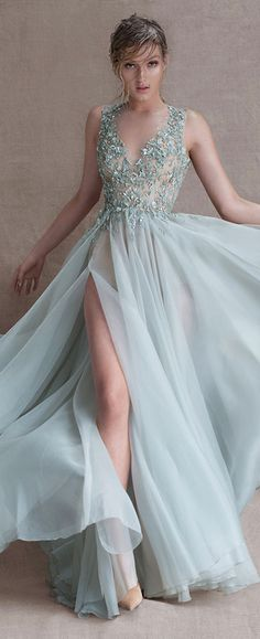 Paolo Sebastian stunning lace and love the color !