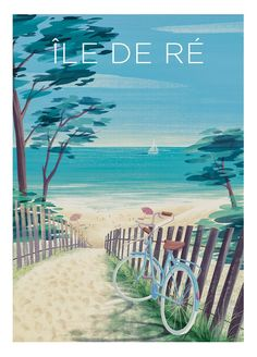 Beach Illustration, Illustration Mode, Illustrations, Aesthetic Painting, Jolie Photo, Travel Images, Vintage Travel Posters, Vintage Art, Surfing
