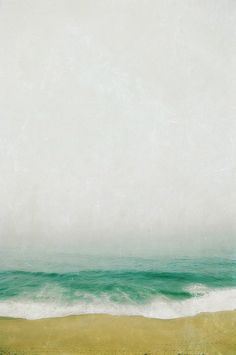 photography beach art contemporary simple wave - but blurr your eyes and you can easily see an abstract painting....