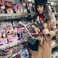 In Vogue we trust #vogue #magazine #stylish #woman #coat #red #passionate #style #fashion #beautiful #traveller #hat