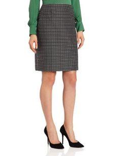 Anne Klein Women's Polka Dot Skirt, Black/ Camellia Multi, 8 Anne Klein. $99.00