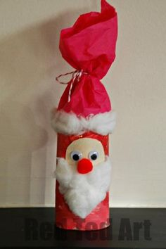 Roll Santa (Nikolo Toilet Roll Santa Craft - we use our on St Nikolaus Day on the Dec. fill him with gold coins, nuts and dried fruit!Toilet Roll Santa Craft - we use our on St Nikolaus Day on the Dec. fill him with gold coins, nuts and dried fruit! Preschool Christmas, Noel Christmas, Christmas Activities, Christmas Crafts For Kids, Christmas Projects, Simple Christmas, Holiday Crafts, Christmas Decorations, Father Christmas