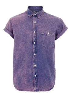 For mens fashion check out the latest ranges at Topman online and buy today. Topman - The only destination for the best in mens fashion Denim Shirt Men, Acid Wash Jeans, Jean Shirts, Men Casual, Trending Outfits, Mens Fashion, My Style, Top Boy, Mens Tops