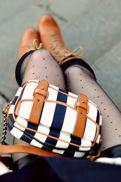 Purse and stockings and boots