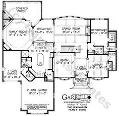 Lexington House Plan Floor Plan, Traditional Style House Plans, Two Story House Plans Free House Plans, Two Story House Plans, Beach House Plans, Luxury House Plans, Two Story Homes, House Floor Plans, I Love House, Up House, Farm House